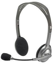 New Logitech H110 Stereo Headset for PC Calls & Music 981-000214 Bulk Packaging!
