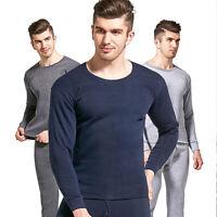 Men Winter Thermal Underwear Set Long Johns Top & Bottom Warm Sleepwear Set 4XL