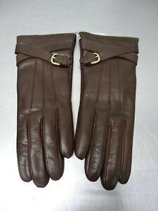 Portolano Women's Cashmere-Lined Leather Gloves # 6.5