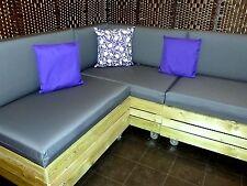 1 x WATERPROOF SEAT CUSHION - PALLET GARDEN FURNITURE RATTAN CANE SOFAS CHAIRS