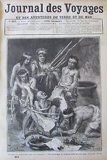 JOURNAL DES VOYAGES N° 457 de 1886 PATAGONIE MOEURS PATAGONS LES ILES COMORES