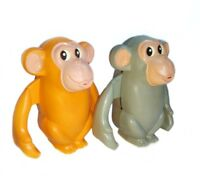 2X Wind-up Vintage USSR Toy Clockwork Monkeys. Collectible NOS
