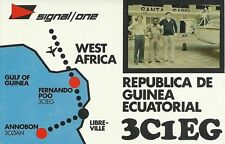OLD VINTAGE 3CIEG EQUATORIAL GUINEA AFRICA AMATEUR RADIO QSL CARD