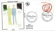 2012-Fdc.Enveloppe soie 1°jour-Adeline André-Haute Couture-Patch d'Amour-Yv.4632