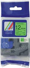 TZ-D31 BLack on Flou Green Label Tape 12mm Compatible to Brother P-touch TZe-D31