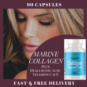 Hydrolyzed Fish MARINE COLLAGEN Tablets Skin Anti Ageing Tissue Joints 90 Caps