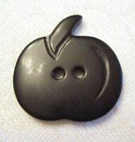 LARGE REALISTIC Vintage PRESSED BAKELITE Clothing Button = BLACK PUMPKIN