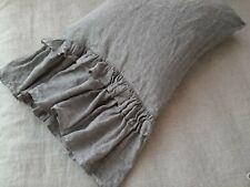 Linen pillowcase with double ruffle ruffled pillowcase linen bedding queen cover