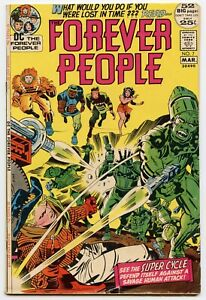 FOREVER PEOPLE #7 Vol.1 - D.C. - 1972 - Jack Kirby!  6.5 to 7.5  VF-