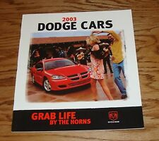 Original 2003 Dodge Car Sales Brochure 03 Neon Intrepid Stratus