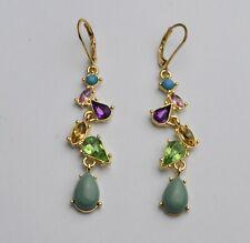 Antique/Vintage Style Rhinestone Crystal Drop/Dangle Leverback Earrings UK -149