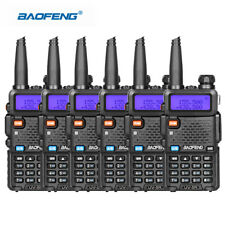 6PCS Baofeng UV-5R Walkie Talkie Headset VHF UHF Ham Portable 2-Way Radio DCS