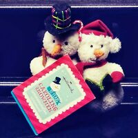 NWT 2013 RARE Hallmark Celebrating 10 Years Caroling Snowman Plush Ornament