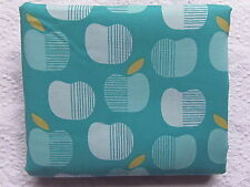 NEW & HTF Cloud 9 Organic Market Day TURQUOISE APPLES *100% Organic Cotton FQ*