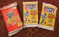 NFL Pro Set NFL Football Fleer (1) Cards 1990-Series II Lot (2) Unopened Packs