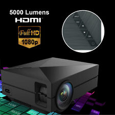LED GM60 Projector Full HD Movie 1080p LCD 3D Wifi Home Theater Video Games