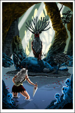 """Pool of the Forest God "" PRINCESS MONONOKE print - TIM DOYLE Miyazaki Ghibli"