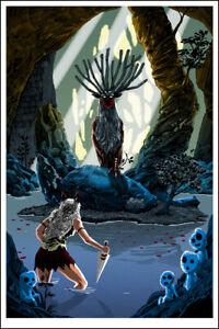 """Pool of the Forest God "" PRINCESS MONONOKE print - TIM DOYLE Miyazaki Ghibli"