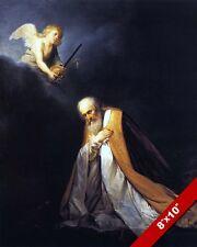 KING DAVID OF ISRAEL IN PRAYER PAINTING JEWISH & CHRISTIAN ART REAL CANVAS PRINT