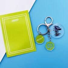 Kpop GOT7 3 Pendants Keychain Phone Bag Keyring 2019 BAMBAM MARK JB JR JACKSON