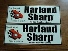 Lot of 2 HARLAND SHARP roller rocker arms drag racing decals stickers large size