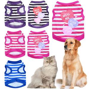 New Puppy Pet Dog Vest Clothes Small Cat Summer T-shirt Apparel Dress XS,S,M,L