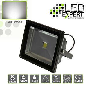 4 x LED Expert 50w LED Flood Light Security 5 Year Warranty IP65 Cool White CE