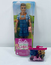 Mattel Barbie Sweet Orchard Farm Ken Doll With Baby Piglet Action Figure