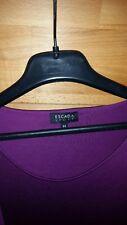 Kleid Escada Sport Gr.44 business lila 67%Lyocell 33%Baumwolle Wickelkleid