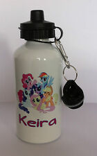 my little pony water bottle personalised any name girl gift school sport 228
