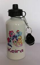 My Little Pony bottiglia d'acqua Ragazza Personalizzati Qualsiasi Nome Regalo Scuola Sport 228