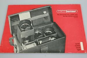 Original Benser 4 page brochure Leica M Universal Ever Ready Case Outfit Bag
