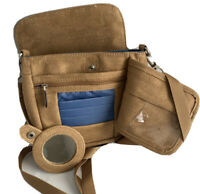 TRAVELON Crossbody Shoulder Bag Belt Strap Travel Khaki Multiple Pockets Adjust