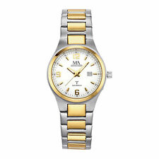 Meister Anker Armbanduhr Funk Uhr Titan matt zweifarbig Datum Faltschließe Damen
