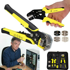 4 In 1 Wire Crimper Crimping Tool Bag Pliers Set Cutter Ratcheting Terminal Tool