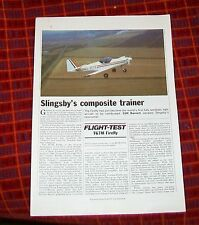 SLINGSBY T67M AEROBATIC LIGHT AIRCRAFT SPECIFICATIONS & ARTICLE REPRINT (3)