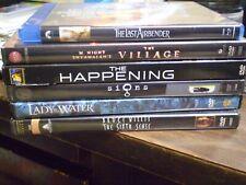 (6) M. Night Shyamalan Blu-Ray/Dvd Lot: The Happening Village Sixth Sense Signs