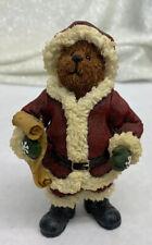 """S. C. Kringlebeary� Santa #3244 Boyds Shoe Box Bear Jointed Arms Figurine"