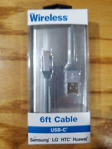 Just Wireless 6 ft TPU Type-C to USB-A Cable - Gray