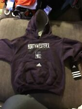 NEW Adidas Size 4T Northwestern Wildcats Hoodie Baby Infant Kid Purple Toddler