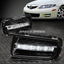 FOR 06-08 MAZDA 6 EU/UK BUMBER CHROME LED DRL OE DRIVING FOG LIGHT LAMP+BEZEL