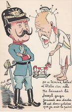 Guerre 14-18 caricature satirique  anti kaiser triplice