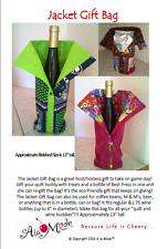 The Jacket Gift Bag Pattern, is a great host/hostess gift to take on game day!