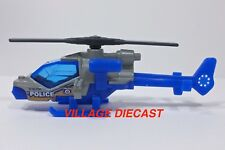 """2017 Matchbox """"Police"""" Mission Helicopter GREY / BLUE / MINT"""