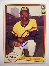 JUAN EICHELBERGER signed PADRES 1982 Donruss baseball card AUTO Autographed #422