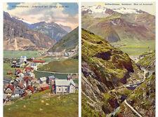 SCHWEIZ ANDERMATT 1920 2 versch. ungebr. farb. AK´s, Gotthardstrasse, Schöllenen