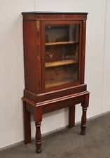 Lovely Antique Rustic Mahogany & Blackwood Display Cabinet * Bookcase
