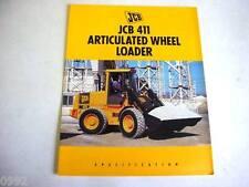 Jcb 411 Wheel Loader 6 Pages,1995 Brochure #