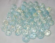 NEW 50 SNOWFLAKE 14mm GLASS MARBLES TRADITIONAL COLLECTORS ITEMS