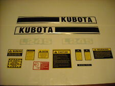 Kubota L245 tractor decal set with caution kit  K151 hood